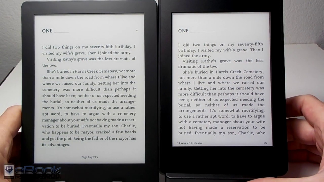 Kindle vs kobo aura h2o 2nd gen comparison review youtube for Housse kobo aura h2o edition 2