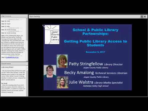 School & Public Library Partnerships:  Getting Public Library Access to Students 12-5-2017
