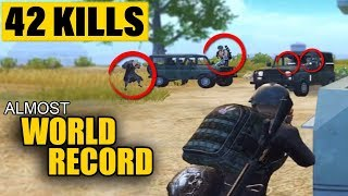 ALMOST NEW WORLD RECORD|| 42 kills 5500+ Damage - Duo vs Squads - Asia Server - With Sneak Gaming