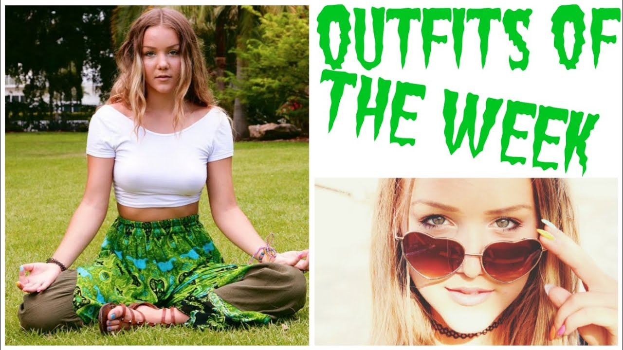 SUMMER OUTFITS OF THE WEEK! (6 THEMES 90u0026#39;s Gypsy Pride Casual Hippie Grunge) - YouTube