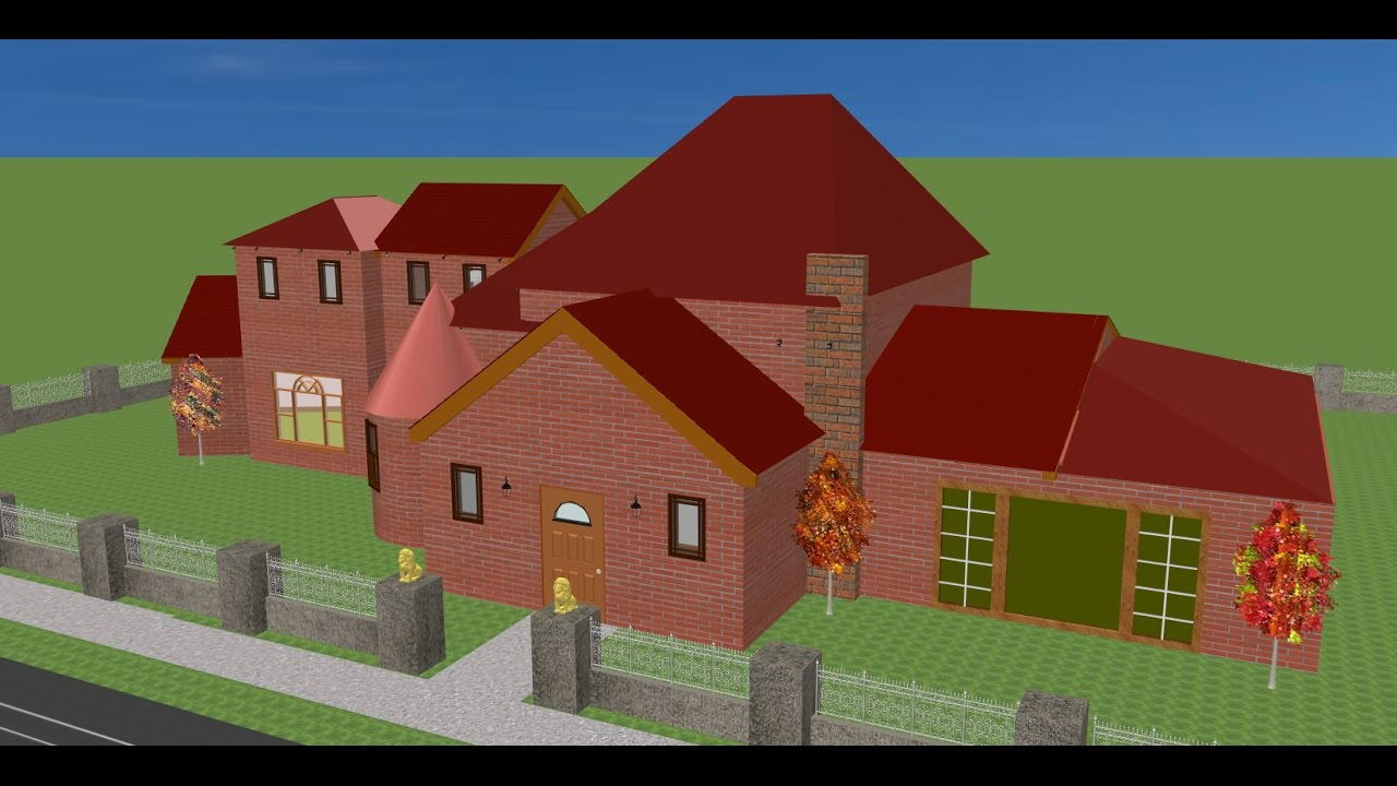 Sweet home 3d how to add a hip roof youtube for Home 3d
