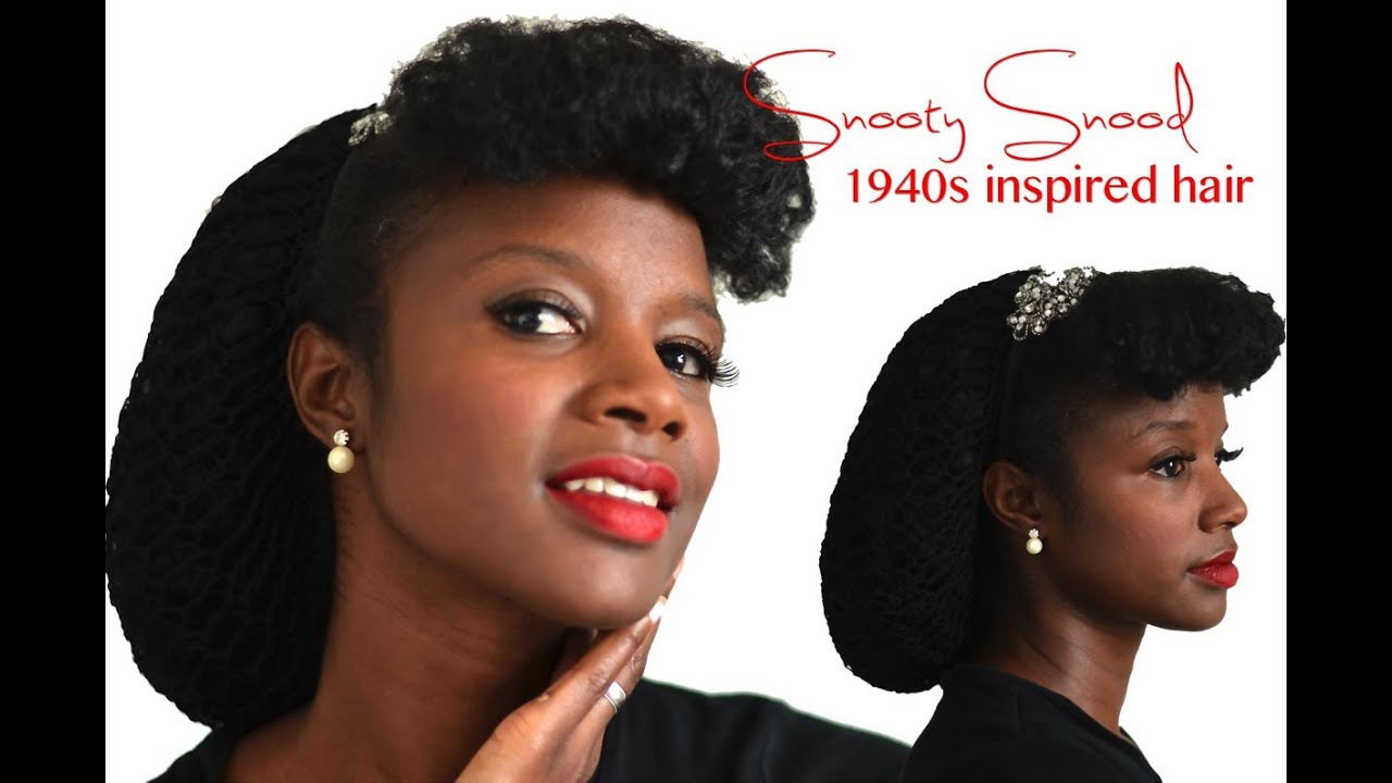Natural Hair 1940s Retro Vintage Protective Style Nik