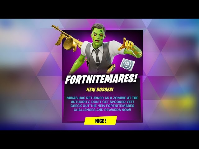 NEW FORTNITEMARES UPDATE OUT NOW! BOSS MIDAS! (Fortnite Battle Royale)