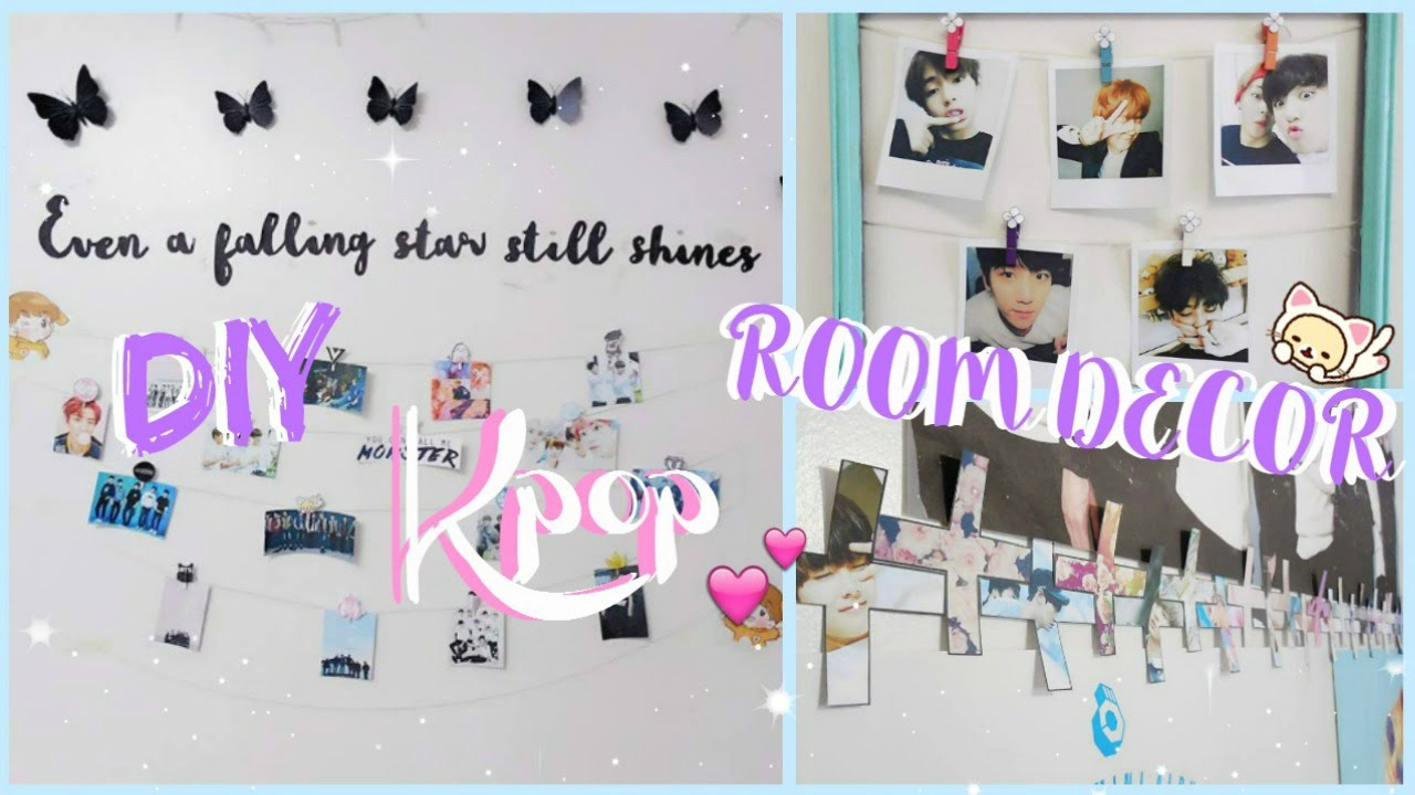 Diy Kpop Room Decor ♡ Bts Amp Exo Edition Youtube