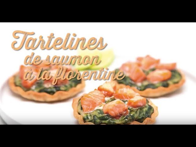 Tarteline saumon florentine