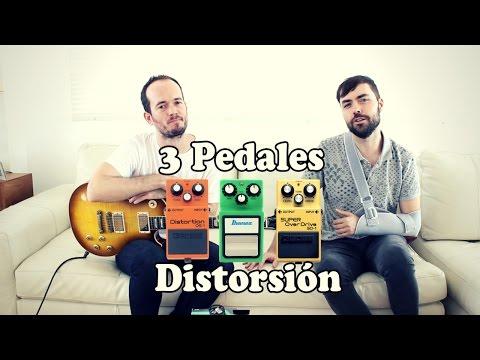 3 Pedales de Distorsión Clásicos - Boss DS1 - Ibanez TubeScreamer - SD1