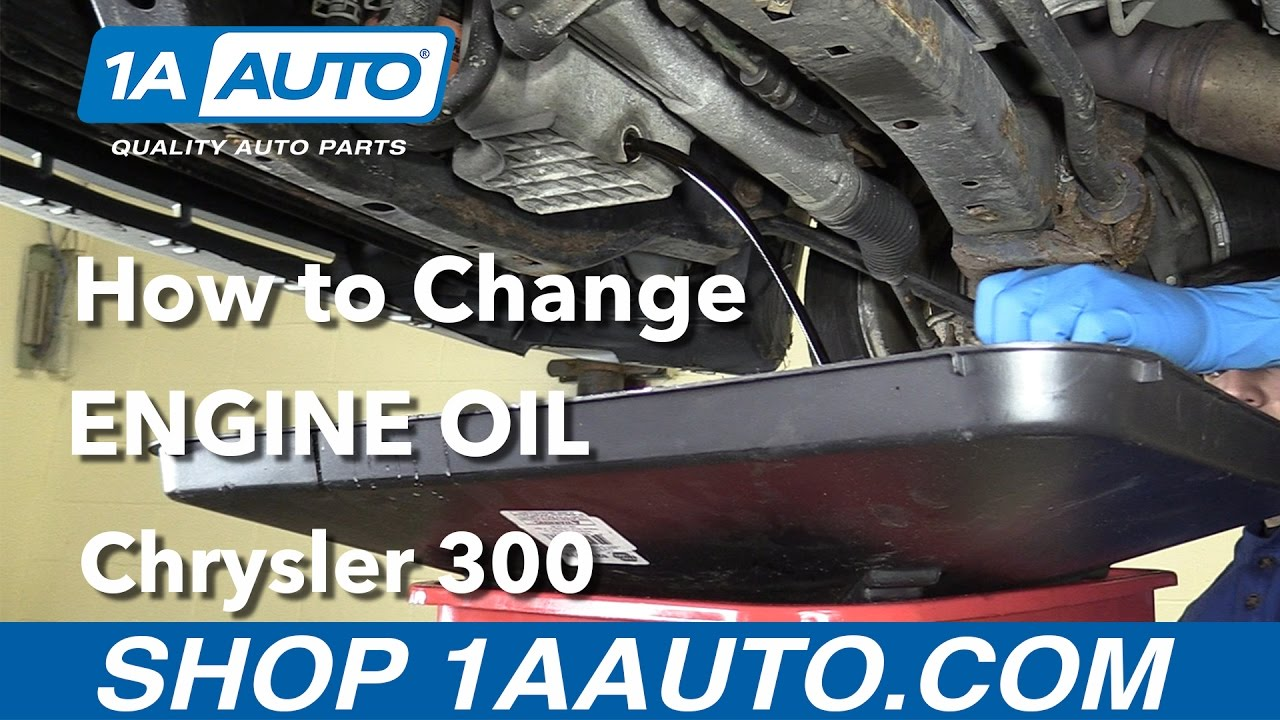 hight resolution of how to replace your engine oil 2006 chrysler 300