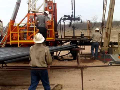 El trabajo en los pozos petroleros WEST TEXAS