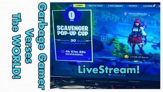 LIVE! FORTNITE TOURNAMENT! - Scavenger pop-up cup -