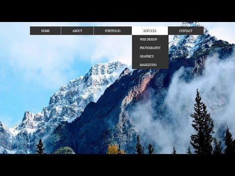 CSS3 3D Flipping Dropdown menu | CSS Dropdown Navigation menu Tutorial