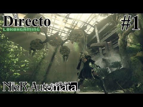 NieR: Automata - Directo 1# - Español - Modo Dificil - Impresiones - Primeros Pasos - 60fps - Ps4Pro