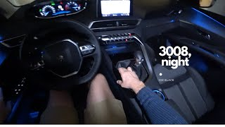 Peugeot 3008 night 130 HP 4K | POV Test Drive #067 Joe Black