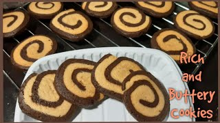 Vanilla and chocolate swirl Cookie recipeHow to make  swirl cookies at homeCakes by AnaEp 18