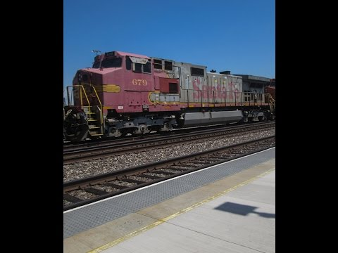 8-30-16!!Railfanning Commerce & Montebello!!! Featuring golden swoosh, UNPATCHED Dash 9 and More!!!