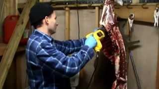 Cutting Deer Ribs