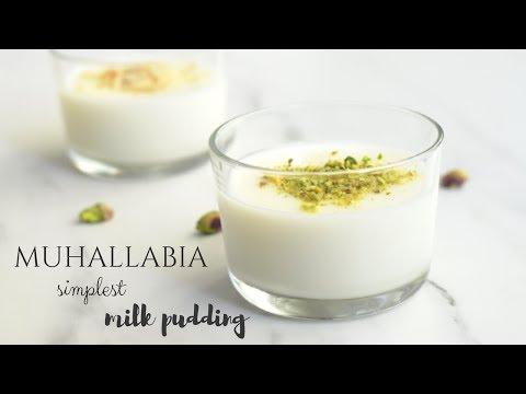 Muhallabia Easy Milk Pudding Recipe