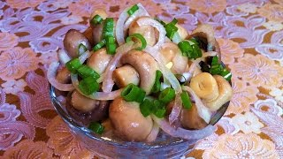 Маринованные Шампиньоны(Отличная Закуска)/Маринованные Грибы/Marinated Mushrooms/Простой Рецепт