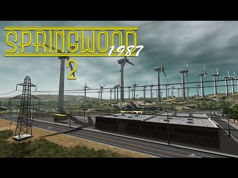 Cities Skylines: Springwood - Highway, Wind Farm, Power Station (Ep2)