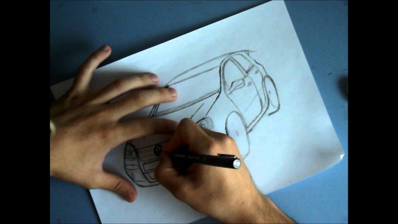 Volkswagen Golf V Gt Dibujo Youtube