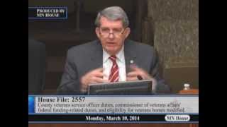 House State Government Finance and Veterans Affairs Committee  3/10/14
