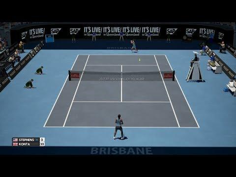 AO International Tennis - Sloane Stephens vs Johanna Konta - PS4 Gameplay
