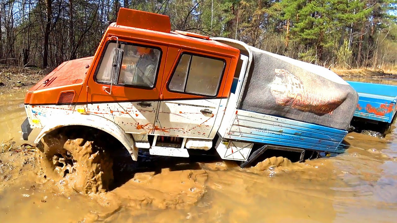 RC Truck MUD OFF Road Extreme – Mercedes Unimog and Trailer
