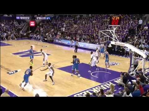 UCLA vs Washington basketball 61-54 March 9, 2013 regular season finale highlights montage