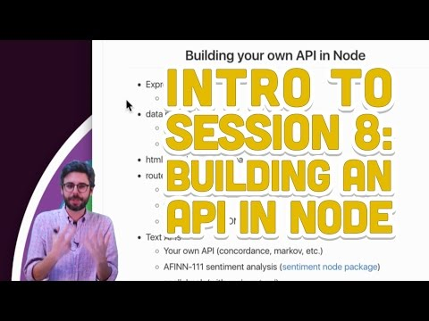 Building an API with Node and Express | Daniel Shiffman