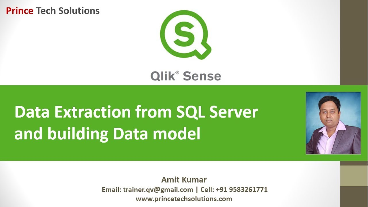 Qlik Sense Tutorial | Data Extraction from SQL Server and building Data  model