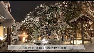 삿포로 온천(조잔케이 료칸) 한겨울에 힐링
