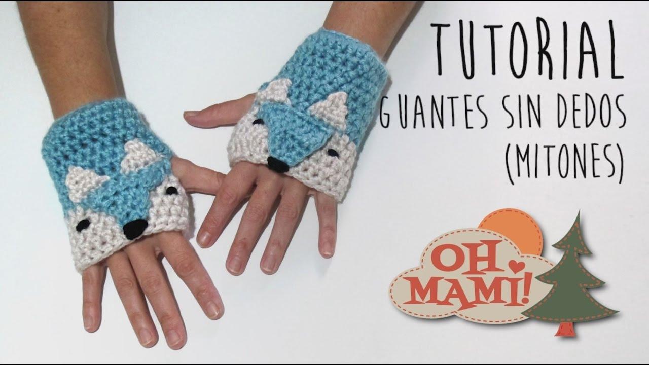Asombroso Guantes Sin Dedos Largos Patrón De Crochet Elaboración ...