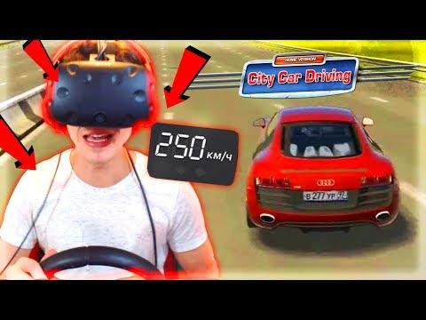 КРЕАТИВ КАТАЕТСЯ на AUDI R8 в ВИРТУАЛЬНОЙ РЕАЛЬНОСТИ | VR City Car Driving [ HTC VIVE ]