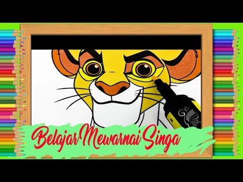 Belajar Menggambar Mewarnai Raja Singa Youtube