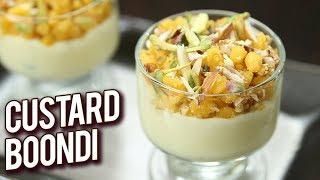 Custard Boondi Recipe - How To Make Custard Boondi - Dessert Recipe - Rakshabandan Special - Ruchi