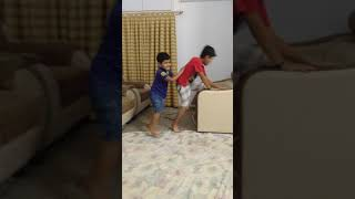 Small children's fighting