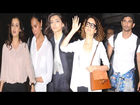 Airport Spotting: Kangana Ranaut, Sonam Kapoor And Others Go Stylish!