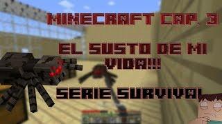 Minecraft Cap. 3 -EL PEOR SUSTO DE MI VIDA!! [1.7.7] (Serie Desconocida)