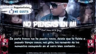 """Cosculluela - """"No piensas en mi"""" con Letra  ★New Romantic Reggaeton 2011 / 2012★"""