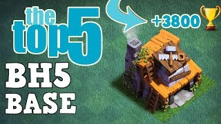 TOP 5 BEST Builder Hall 5 Base +3800 Trophy | CoC BH5 Builder Base Layout | Clash of Clans