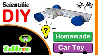 Science Experiments for kids how to make car toy | عمل لعبة سيارة | 車のおもちゃを作る方法 | zaffron