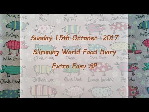 Day 15 #Vlogtober #Onplanoctober Slimming World SP Food Diary Sunday 15th October 2017