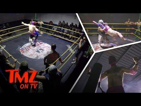 David Arquette's Secret Tijuana Wrestling Match!  TMZ TV