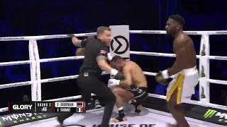 GLORY 64: Cedric Doumbe Runs Out of The Ring