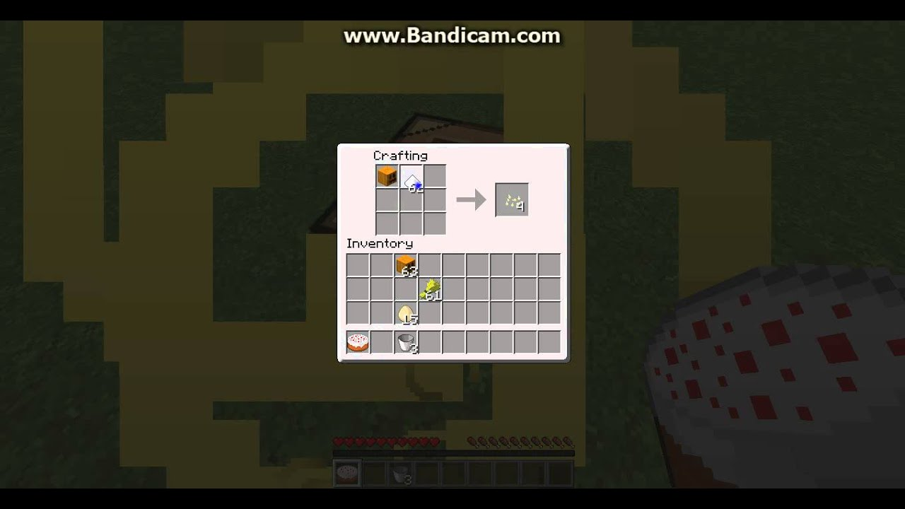 How to make a pumpkin pie and a cake on minecraft - YouTube