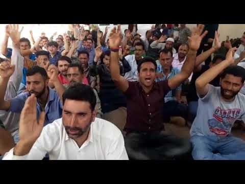 JKSPDC Daily Wagers Stages Protest Demonstration