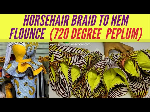 How To Sew A 720 Degree Peplum Perfectly With Crinoline | Horsehair Braid To Hem Flounce [Detailed]из YouTube · Длительность: 12 мин31 с