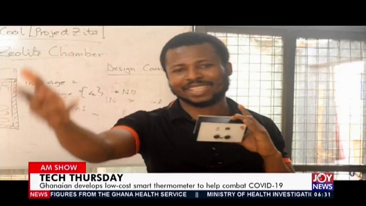 Download Ghanaian develops low cost smart thermometer to help combat Vovid-19 - AM News on JoyNews (7-5-20)