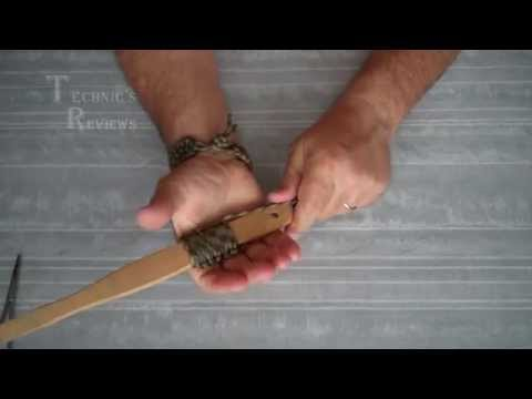 Оплетка ручки плетением кобра. Paracord