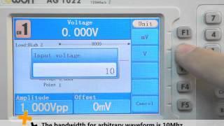 Owon AG1022 серії AG з DDS генератор сигналів довільної форми, 2 каналу, 25мгц, 125MSa/с Частота дискретизації