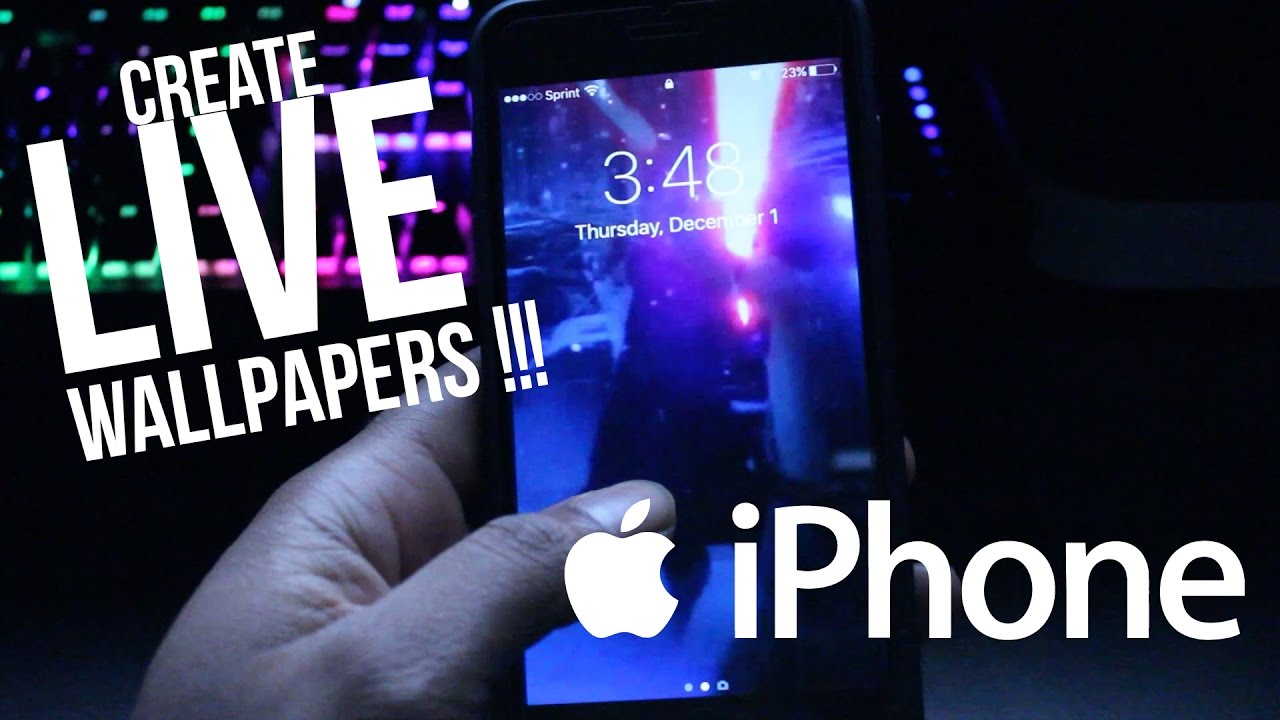 Create your own iPhone Live Wallpapers from video - YouTube